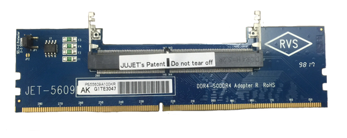 JET-5609AK DDR4 SODIMM (RVS) to DIMM Adapter with Metal Guide