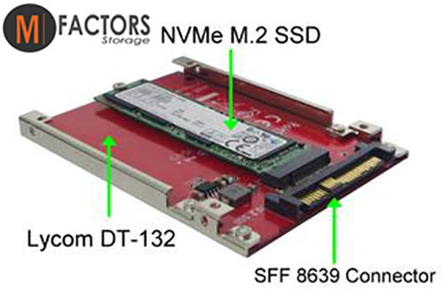 """NVMe M.2 SSD to NVMe U.2 2.5"""" SFF-8639 SSD Adapter"""