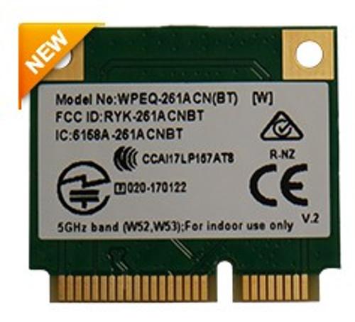 WPEQ-261ACN(BT) 802.11ac/a/b/g/n Industrial Grade Wi-Fi+Bluetooth Half Mini PCIe Module, Qualcomm Atheros QCA6174A-5, 2T2R (v2)