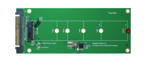 U.2 (SFF-8639) to M.2 NVMe SSD Adapter support 2230/2242/2260/2280/22110