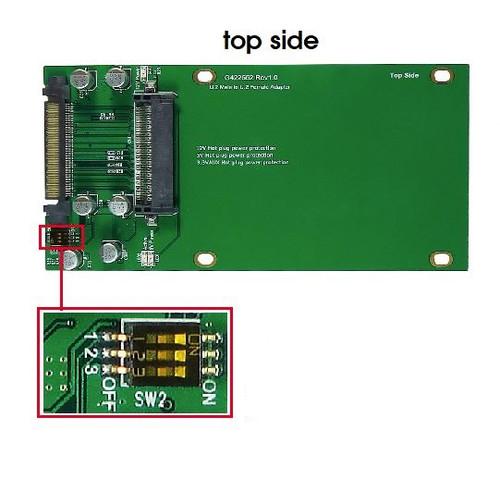 "U.2 (SFF-8639) to 2.5"" U.2/SAS/SATA SSD Adapter"