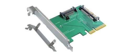 PCIe Gen 3, 4 Lanes to U.2 (SFF-8639) & SATA Power Adapter
