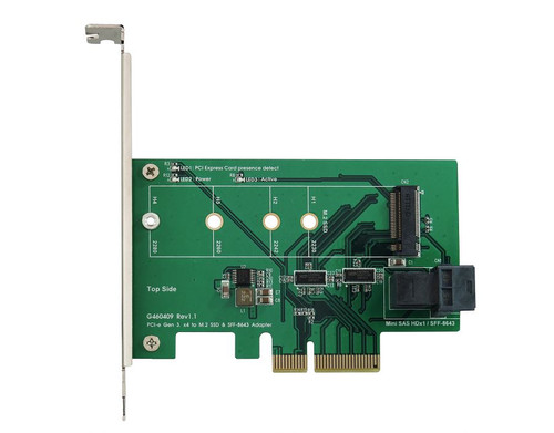 PCIe x4 to M.2 SSD (PCIe I/F) & SFF 8643 Adapter