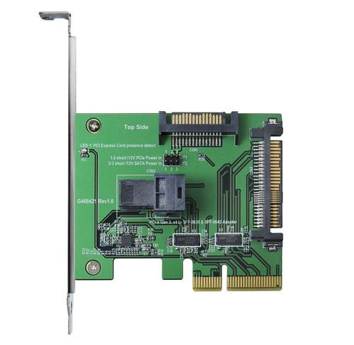 PCIe Gen 3/4 Lane to mini SAS HD & U.2 Adapter with PCIe Bracket