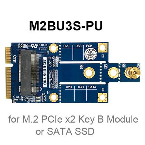 M2BU3S series (M.2 key B USB/SATA to Mini Card)