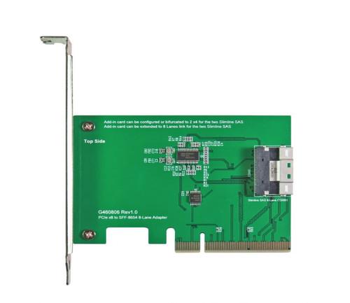 PCIe Gen3 8-lane to Slimline SAS (SFF-8654) 8i Add-in Card(AIC)