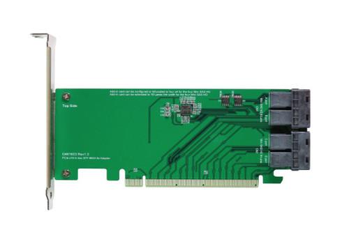PCIe Gen3 16-lane to Mini SAS HD(SFF-8643) quad-port Adapter