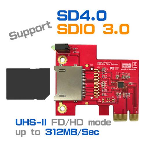 SDP5250 SD4.0 / SDIO 3.0 to PCIe Adapter
