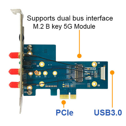 PN12A M.2 B key USB3.0 & PCIe dual bus interface 5G WWAN card Adapter