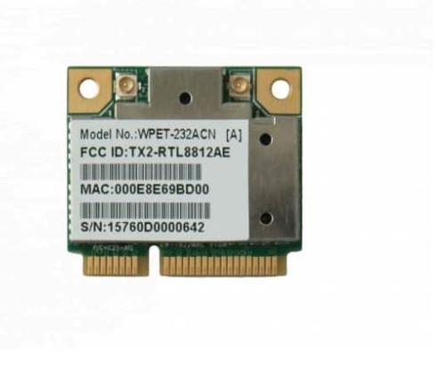 WPET-232ACN 802.11ac/a/b/g/n Mini PCIe Module (WiFi 5), Realtek RTL8812AE, 2T2R