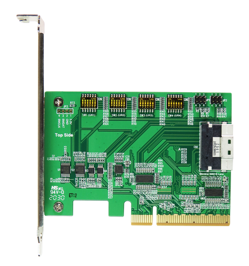DP8401 PCIe x8 Gen4 with ReDriver to SlimSAS 8i (SFF-8654) Add-in Card