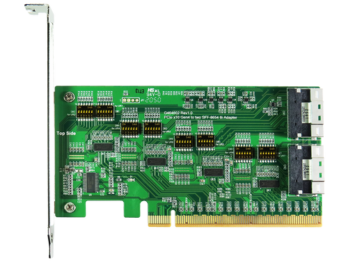 DP7401 PCIe x16 Gen4 with ReDriver to SlimSAS 8i Dual port Add-in Card