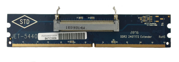 JET-5440 (DDR2 172pin Micro DIMM adapter) Converter for 172pin DDR2 Micro DIMM into 240pin DIMM adapter