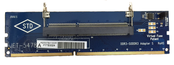 JET-5478A (DDR3 204pin SODIMM Adapter with EEPROM on Board - 1600Mhz)