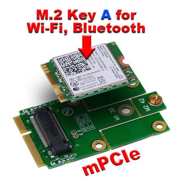 M2MP1 / M2MP1-E (M.2 NGFF to Mini PCIe (PCIe+USB) Adapter)