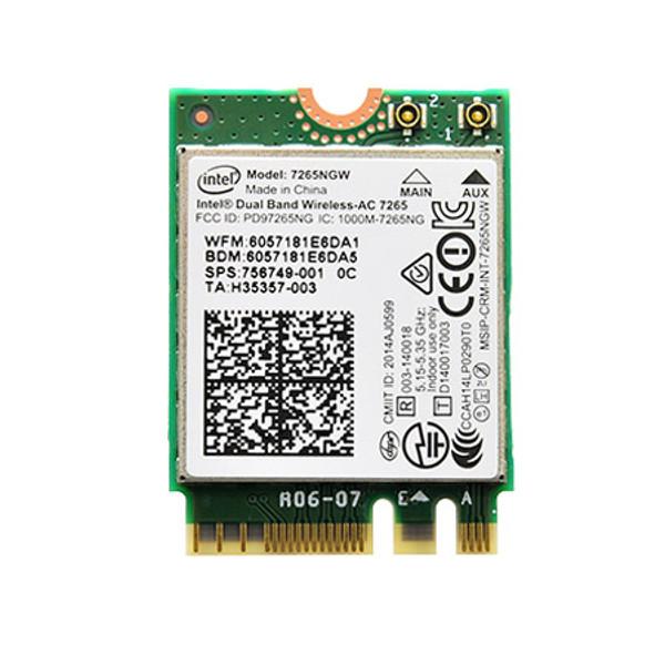 7265NGW (Intel® Dual Band Wireless-AC 7265 802.11ac, Dual Band, 2x2 Wi-Fi + Bluetooth 4.0*)