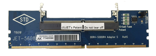 JET-5608AK - DDR4 SODIMM to DIMM Adapter with Metal Guide