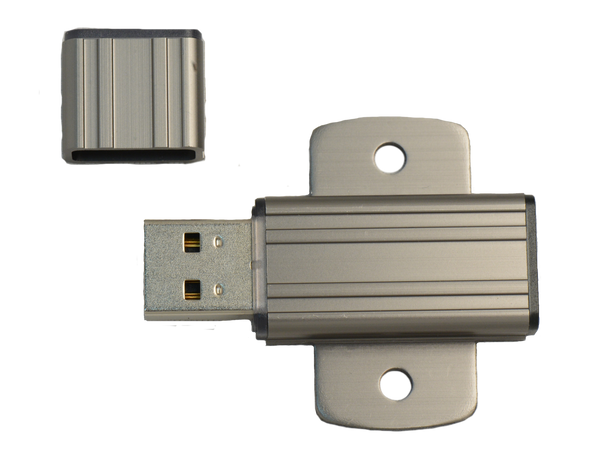 Industrial Grade USB SLC 1GB (Rugged Aluminium Housing with mouting screw holes)