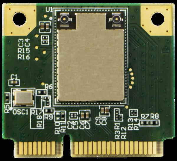 WPEB-263ACNI(BT) 802.11ac/a/b/g/n Industrial Grade Wi-Fi Half Mini PCIe Module, Broadcom, 2T2R