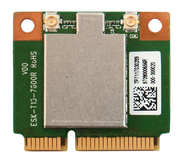 WPEQ-160ACN(BT) 802.11ac/a/b/g/n Wi-Fi Half Mini PCIe Module, Qualcomm Atheros QCA9377-7, 1T1R