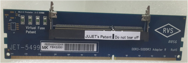 JET-5499MK (DDR3 SODIMM Adapter with metal guide RVS)
