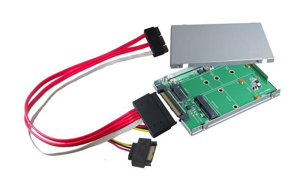 """2.5"""" SATA Express to M.2 (M-Key) & mSATA SSD Adapter U.2 (SFF-8639) to M.2 (M-Key) PCIe x4 I/F SSD Adapter"""