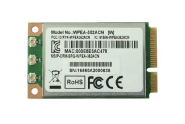 WPEA-352ACNRB     802.11ac/a/b/g/n Mini PCIe Module (WiFi 5), Qualcomm QCA9880-BR4A, 3T3R