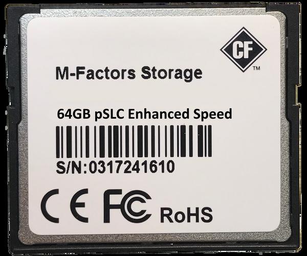 Industrial Grade Compact Flash 2GB, 4GB, 8GB, 16GB, 32GB, 64GB pSLC 30K P/E Cycles