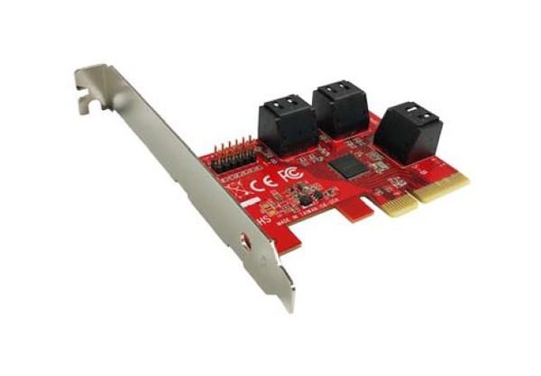 MF-PE-156 6x SATA III 6Gbps AHCI Port-Multiplier-Aware Low Profile PCIe 3.0 Host Adapter