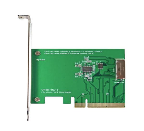 PCIe Gen3 8-lane to OCulink (SFF-8612) 8i Add-in Card(AIC)