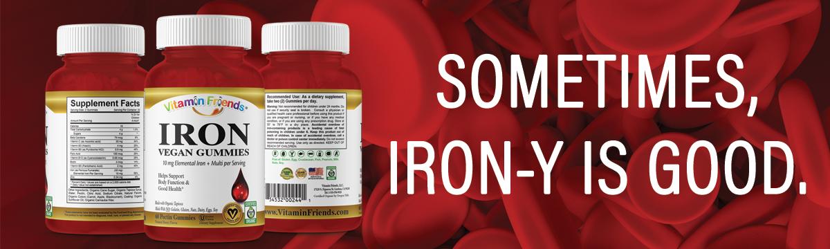 Vitamin Friends Adult Vegan Iron Gummies Advantages