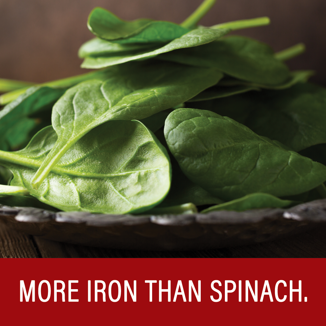 More Iron than Spinach