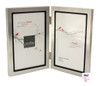 Double Silver 4 x 6 in Vertical Photo Frame