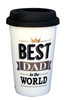 Best Dad Gold & Black Travel Coffee Mug
