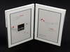 Double White &  Silver 4 x 6 in Vertical Photo Frame
