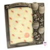 Pewter Baby Birth Record Photo Frame