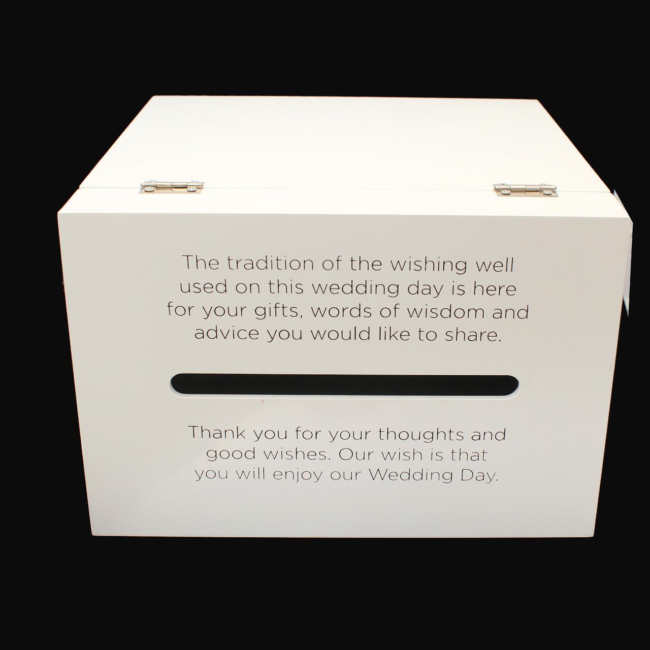 Wedding Wishing Well.Large Wedding Wishing Well Card Box