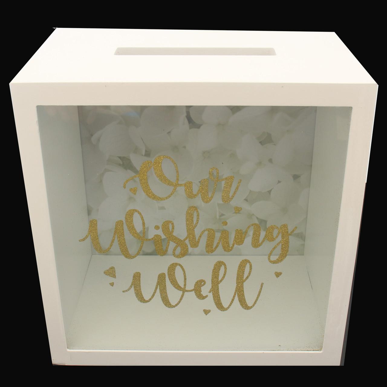Wedding Wishing Well.Wedding Wishing Well Gold Glitter