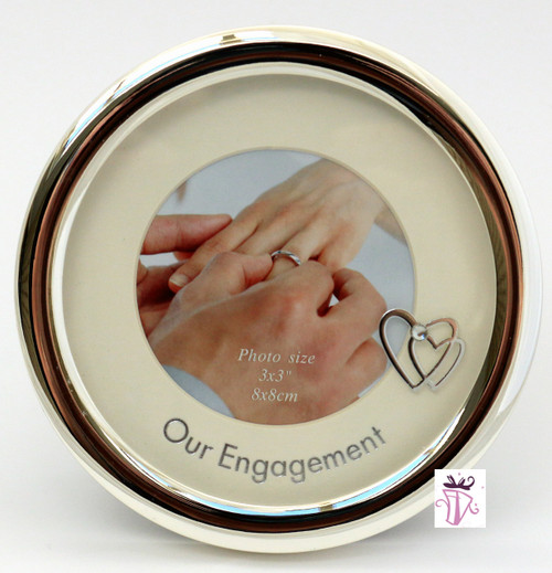 Silver Engagement Photo Frame Gift