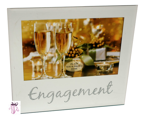 Engagement Glass 4 x 6in  Photo Frame