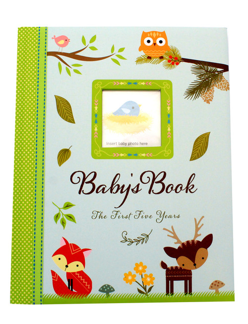 Woodland Baby Record Book