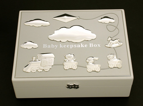 Baby Keepsake Box Silver Top