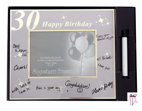 30th Birthday Sign Photo Frame