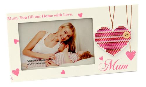 Mum Patch Heart Photo Frame