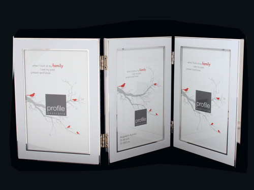 Triple White 4 x 6 in Photo Frame