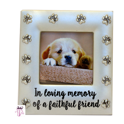 Dog Memorial Square Photo Frame
