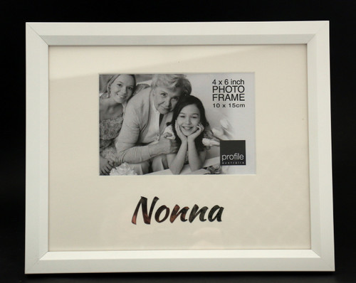 Nonna White Photo Frame