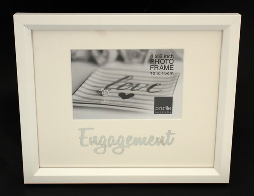 Engagement White Photo Frame