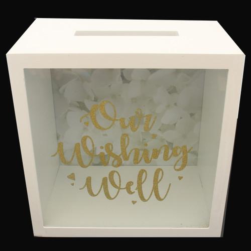 Wedding Wishing Well Gold Glitter