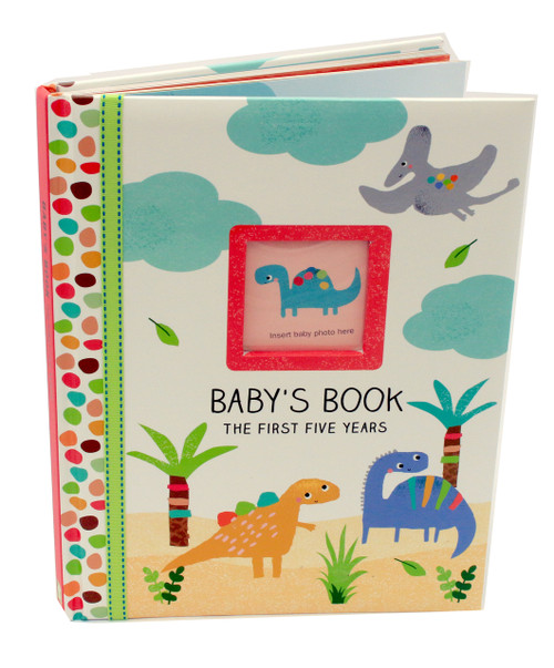 Dinosaur My First Five Years Baby Record Book